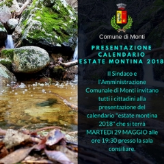 Presentazione calendario Estate Montina 2018